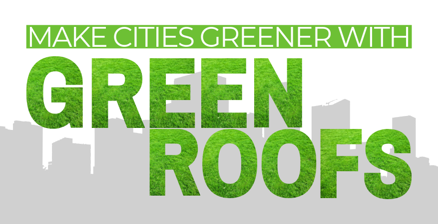 make cities greener with green roofs
